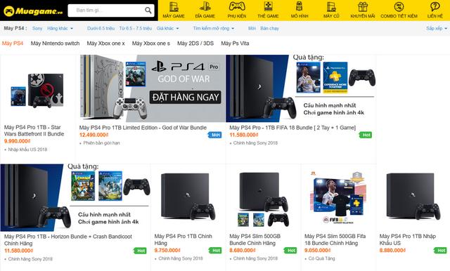 Nhiều máy PS4 bán tại shop MuaGame