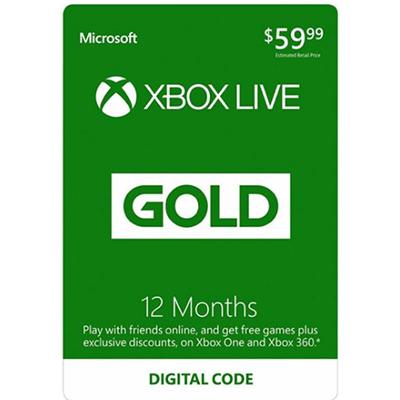 Thẻ Xbox Live Gold 12 Tháng