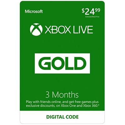 Thẻ Xbox Live Gold 3 Tháng