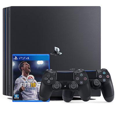 Máy PS4 kèm 1 đĩa Fifa 18 và 2 tay cầm
