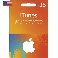 Thẻ iTunes 25$ Hệ US