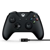 Tay Cầm Xbox One S Màu Đen Chính Hãng [Kèm Cáp]