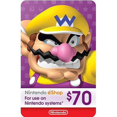 Thẻ Nintendo eShop 70$
