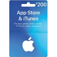 Thẻ iTunes 200$ (US)