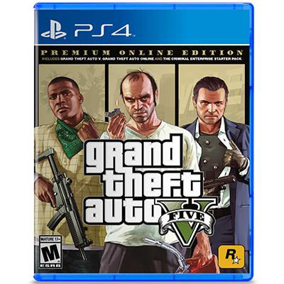 Đĩa Game PS4 GTA Grand Theft Auto V - Premium Online Edition