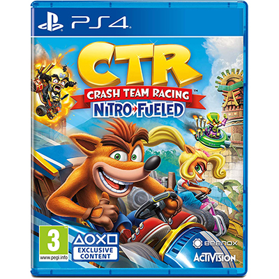 Đĩa Game PS4 Crash Team Racing Nitro-Fueled Hệ EU