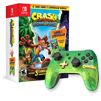 Bộ Crash Bandicoot : N. Sane Trilogy & Controller Bundle