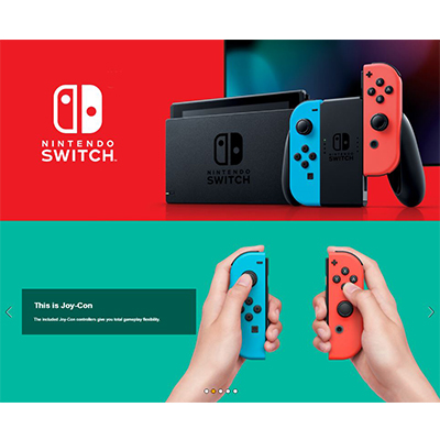 Máy Nintendo Switch with Neon Blue and Neon Red Joy‑Con - New
