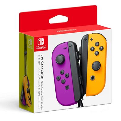 Tay cầm Nintendo Switch Joy-Con Neon Purple/ Neon Orange