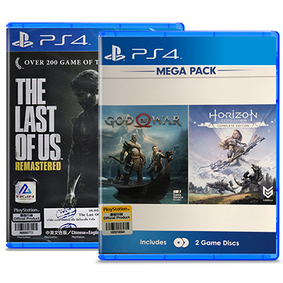 Combo 3 Đĩa Game PS4 God Of War + Horizon + The Last Of US