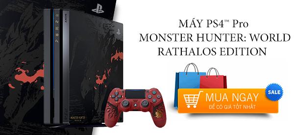 Máy PS4 Pro 1TB Monster Hunter : World Rathalos Edition Chính Hãng